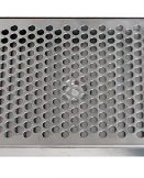 """617R-24 Stainless Steel Rinser Tray and Perforated Grid Includes 1/2"""" Barb Water Inlet and 2"""" x 1/2""""NPT Drain - 24""""L x 7""""W x 7/8""""D"""