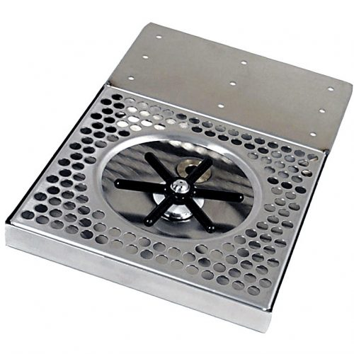 "617R-8U Stainless Steel Under Counter Rinser Tray Comes with 1/2"" Barb Water Inlet and 2"" x 1/2"" NPT Drain"