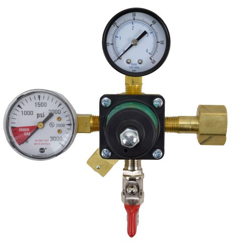 710 CO2 Regulator with Double Gauge and Check-Valve Air Cock
