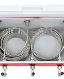 811T-70SS Three Product Coil Box with 3 x 70' Coils - Stainless Steel Faucets, Shanks and Cooler Couplings