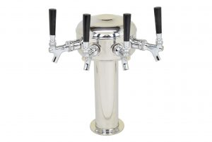 626CG-4 Four Faucet Mini Mushroom Tower with Chrome Plated Faucets and Shanks - Glycol Ready