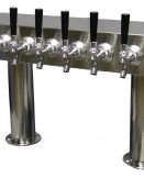 "759R-8CSS Eight Faucet Pass Through Tower with 3"" Round Bases - NSF with S/S Faucets and Shanks - Specify On Center Spacing"