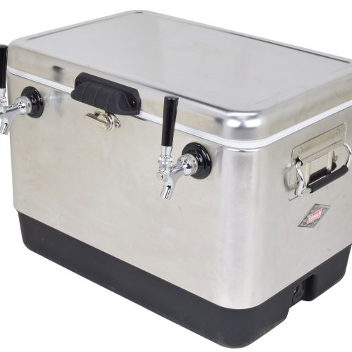 Stainless Steel Belted Cooler with 2 or 4 Faucets