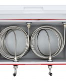 811-100 Two Product Coil Box with 100' Stainless Steel Coils in a 48qt Red Cooler