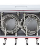 811Q-100 Four Product Coil Box with 100' Stainless Steel Coils in a 48qt Red Cooler