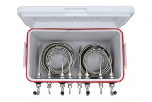 811Q-70FSS Four Product 48qt Coil Box with 70' Coils - Bartender Style - All SS  Contact