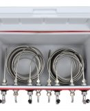 811Q-FSS Four Product 48qt Coil Box with 50' Coils - Bartender Style - All SS Contact