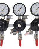 """2703 Three TecFlo Secondary Regulator With Your Choice of Push In Fittings and 3/8"""" OD Poly Unions"""