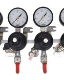 """2704 Four TecFlo Secondary Regulator With Your Choice of Push In Fittings and 3/8"""" OD Poly Unions"""