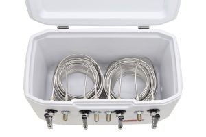 811WQ-70FSS Four Product 70qt Marine Extreme Cooler with 70' Coils - Bartender Style - All 304 Stainless Steel Contact