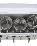 811WT-100FSS Three Product 70qt Marine Extreme Cooler with 100' Coils - Bartender Style - All 304 SS Components