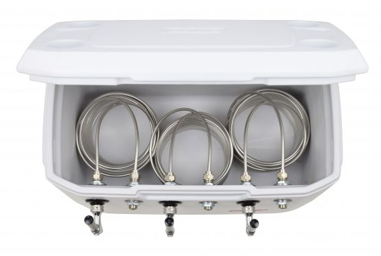 811WT-70FSS Three Product 70qt Marine Extreme Cooler with 70' Coils - Bartender Style - All 304 SS Components