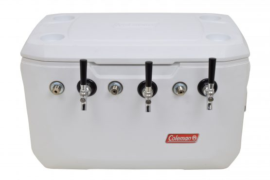 811WTB-20FSS Three Product 70qt Marine Extreme Cooler with 120' Coils - Bartender Style - All 304 SS Components
